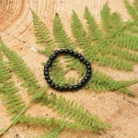 Shungite bracelet for children with 6 mm beads on elastic band 14 cm (5.5 inches)