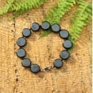 Shungite bracelet  with a chain snap