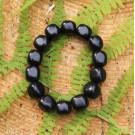 Shungite bracelet with tumbled beads