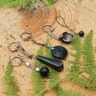 Shungite keychain with a 16 mm bead