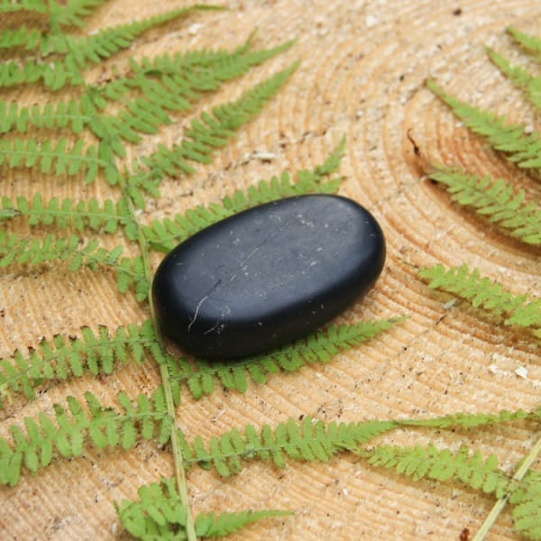 Non-polished shungite massage stone