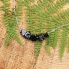 Elite shungite necklace on a chain with small nuggets