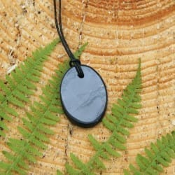 "Shungite pendant ""Cut Oval"""