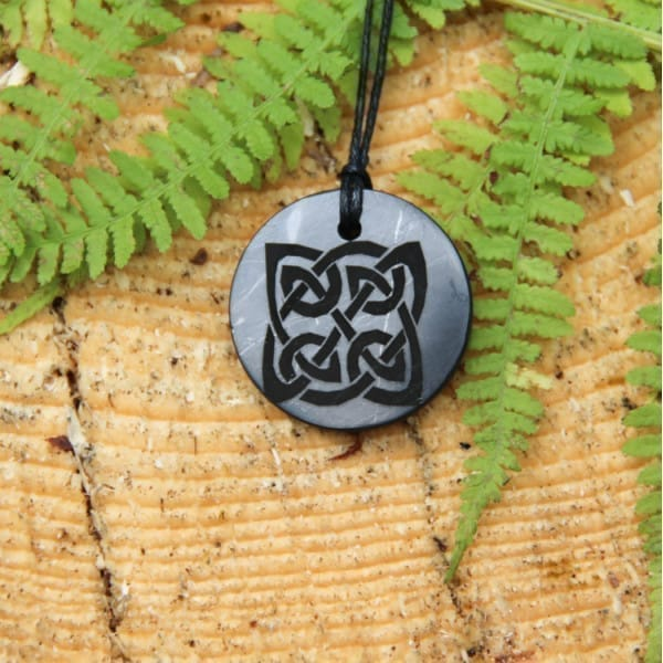 Engraved shungite pendant Yggdrasil Shield