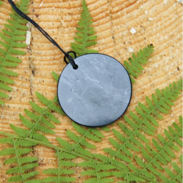 """Shungite pendant """"Small Circle"""""""