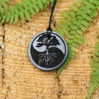 Authentic shungite pendant Tree of life