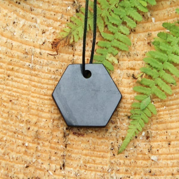 "Shungite pendant ""Hexagon"""
