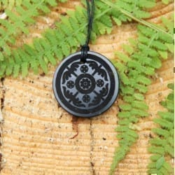 Scandinavian shungite pendant Shield