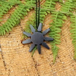 Shungite pendant Nine-pointed star