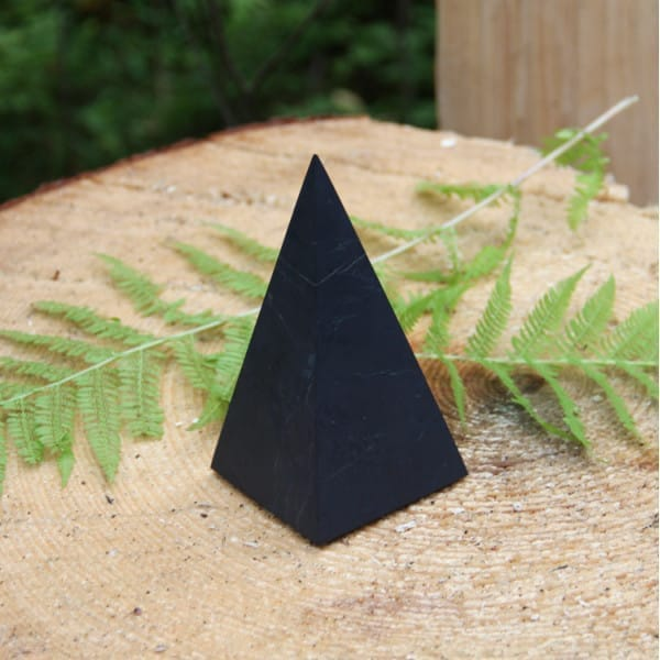 60 mm Non-polished shungite high pyramid