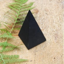40 mm Non-polished shungite high pyramid
