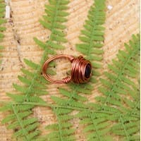 Shungite wired ring (copper)