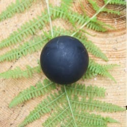 Non-polished shungite sphere 70 mm