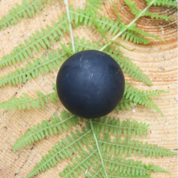 Non-polished shungite sphere 30 mm