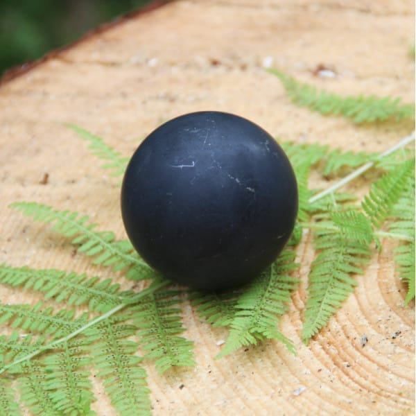 Non-polished shungite sphere 60 mm