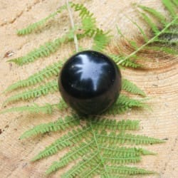 Polished shungite sphere 60 mm