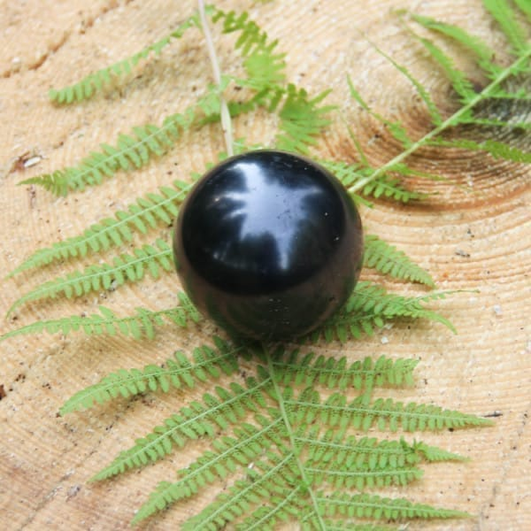 Shungite crystal ball for spiritual development