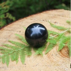 Polished shungite sphere 70 mm