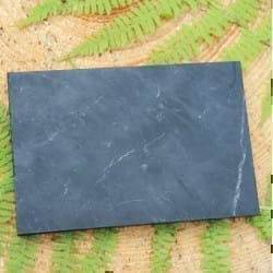 Non-polished rectangular shungite tile 100*150 mm