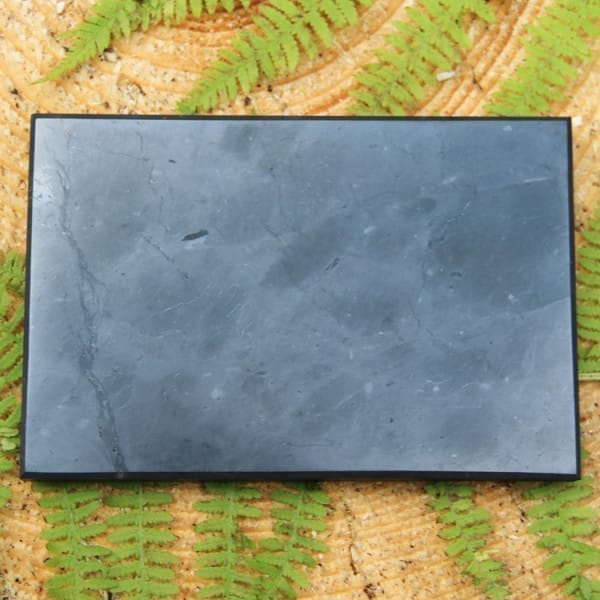Polished rectangular shungite tile 100*150 mm