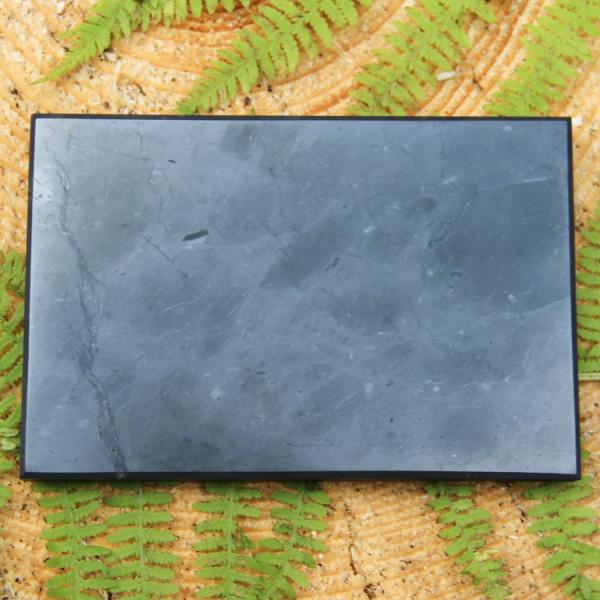 Polished rectangular shungite tile 100*150 mm