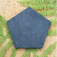 Non-polished pentagonal shungite tile with 80 mm sides
