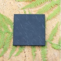 Non-polished square shungite tile 100*100 mm