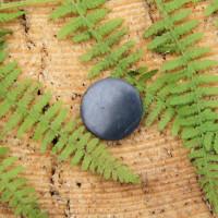 Polished round shungite sticker 20 mm (0,8 inches)