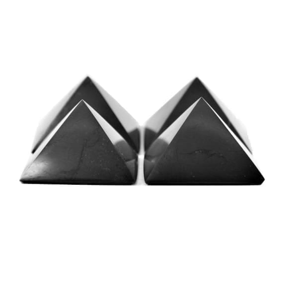 Shungite pyramids wholesale set - 4 pieces directly from Russia