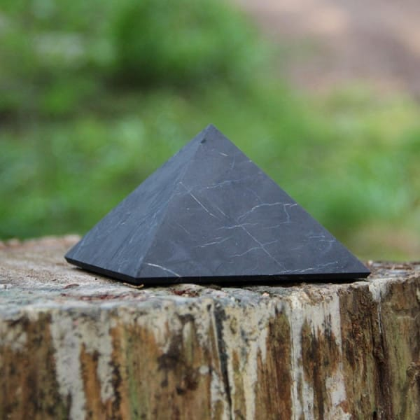 60 mm Non-polished shungite pyramid