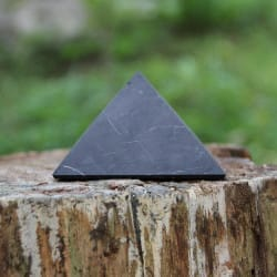 40 mm Non-polished shungite pyramid