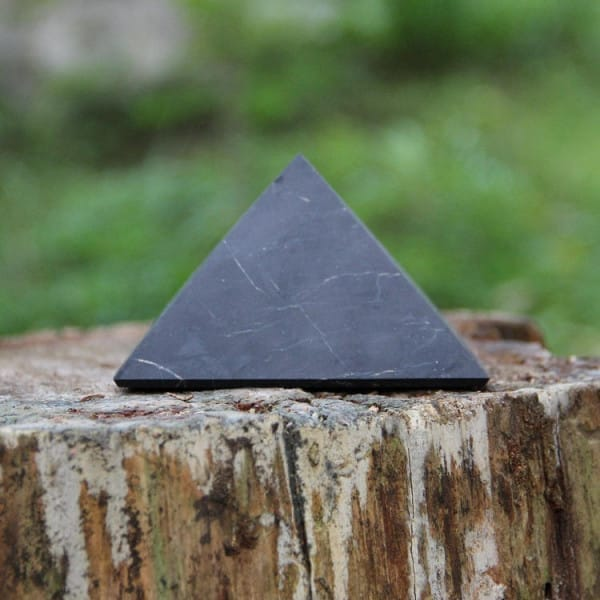 30 mm Non-polished shungite pyramid