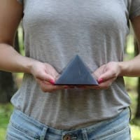 80 mm Polished shungite pyramid from Russia