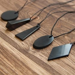 Basic shungite EMF protection pendants set