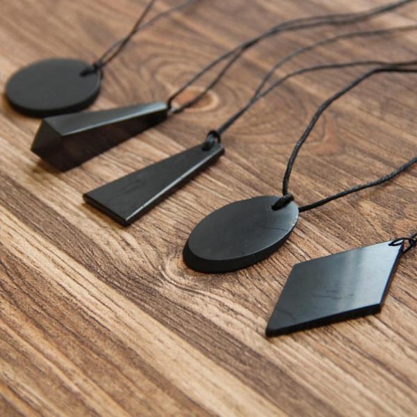 Basic shungite EMF protection pendants set
