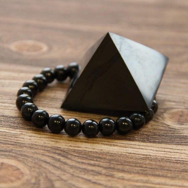Basic Shungite Pyramid and Bracelet Protection Set