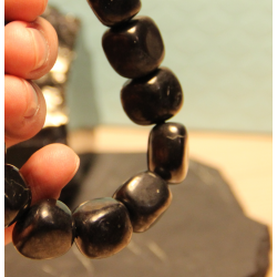 Shungite tumbled stone 8 mm beads 500 pieces