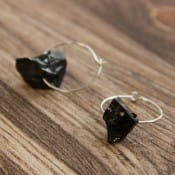 Shungite hoop earrings