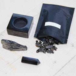 Shungite crystal cleansing set
