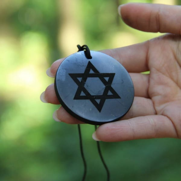 Big shungite pendant Star of David