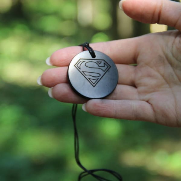 Shungite pendant Superman