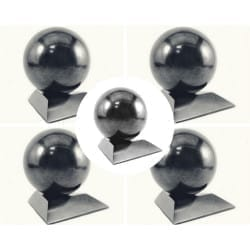 Shungite spheres wholesale set  - 5 pieces directly from Russia