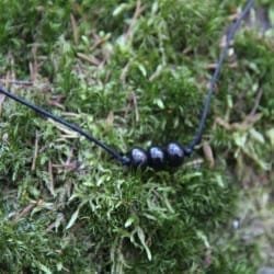 Protective shungite string necklace