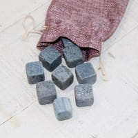 Soapstone whiskey stones set