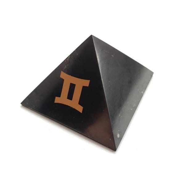 Shungite Gemini zodiac sign pyramid