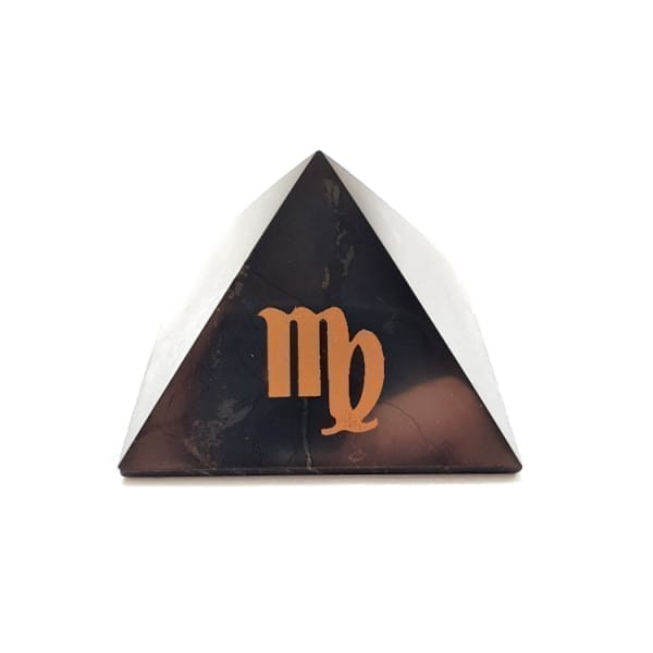 Virgo zodiac sign shungite pyramid