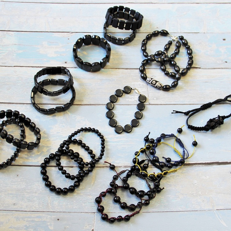 black-crystal-bracelet-shungite-handmade-jewelry